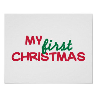 My first 1st christmas poster