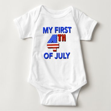 USA Themed My First 4th of July Baby Shirt