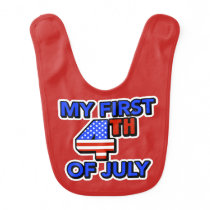 My First 4th of July Baby's Patriotic Baby Bib