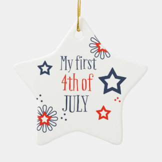 My first 4th of July Ceramic Ornament