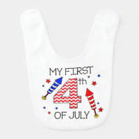 My First 4th of July Infant Bib