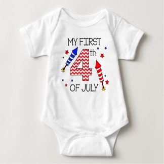 My First 4th of July Infant Body Suit Baby Bodysuit