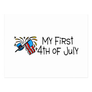 My First 4th Of July Postcard