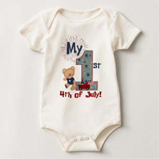 My first 4th of July with bear Baby Bodysuit