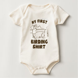 Infant Organic Creeper with My First Birding Shirt design