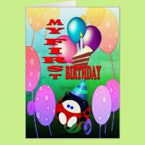 My First Birthday Card