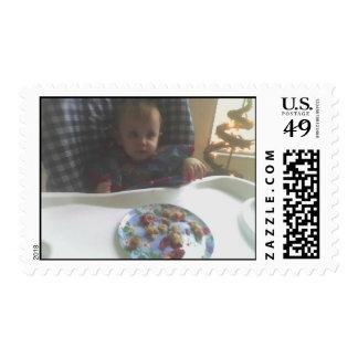 My First Birthday Postage Stamp