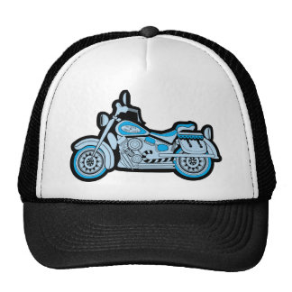 My First Blue Motorcycle Trucker Hats