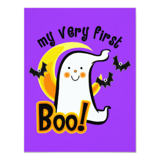 My First Boo 4.25x5.5 Paper Invitation Card