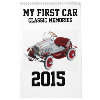 My First Car 2015 Calander Calendar