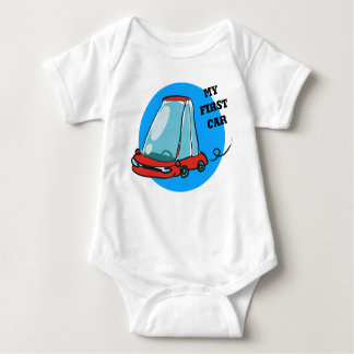 my first car cartoon baby bodysuit