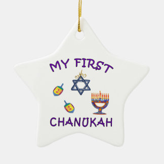 My First Chanukah Ceramic Ornament