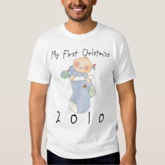 My First Christmas 2010 Boy #1 T Shirt