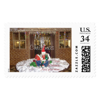 My First Christmas Away from Home inspired holiday Postage