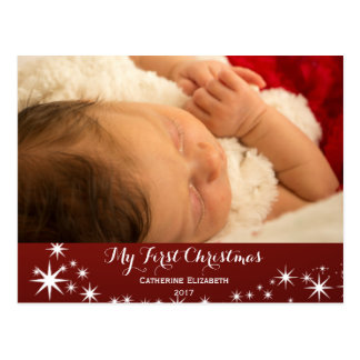 My First Christmas - Baby First Christmas Photo Postcard