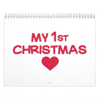 My first christmas wall calendars