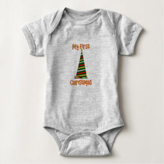My First Christmas - Christmas Tree Baby Bodysuit