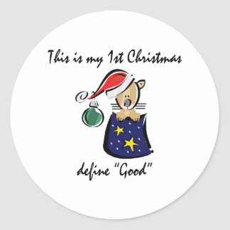 My First Christmas Classic Round Sticker