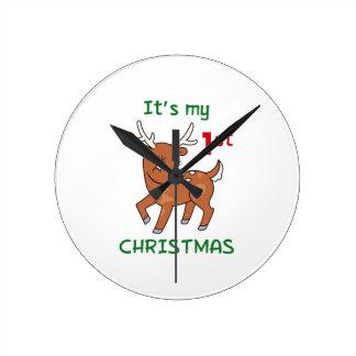 MY FIRST CHRISTMAS ROUND CLOCK