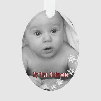 My First Christmas Custom Baby Photo Ornament