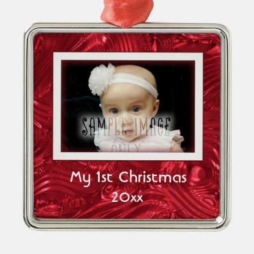 My First Christmas Custom Photo Frame Ornament