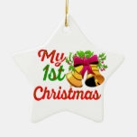 my first christmas decoration star ornament