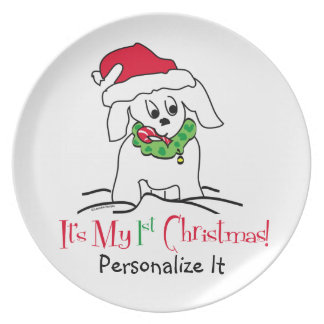 My First Christmas Dinner Plate