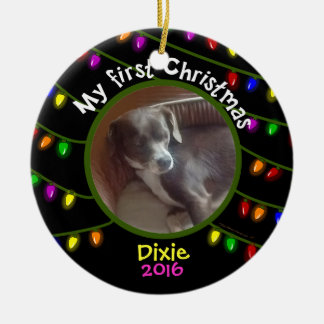 My First Christmas Dixie Ceramic Ornament