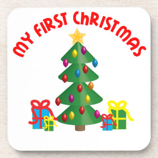 My First Christmas Drink Coaster