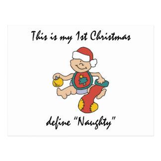 My First Christmas Gift Postcard