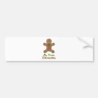 My First Christmas Gingerbread Man Bumper Sticker