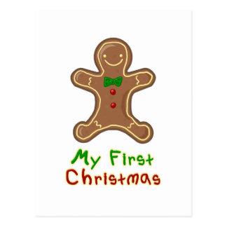 My First Christmas Gingerbread Man Postcard