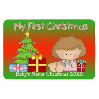 My First Christmas Girl Flex Magnets