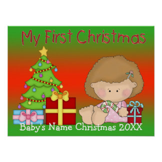 My First Christmas Girl Poster/Print Poster