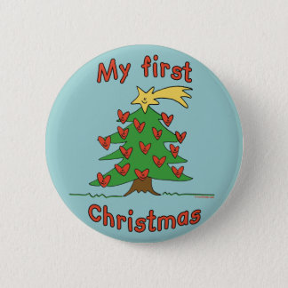 My First Christmas (Happy Tree design) Button