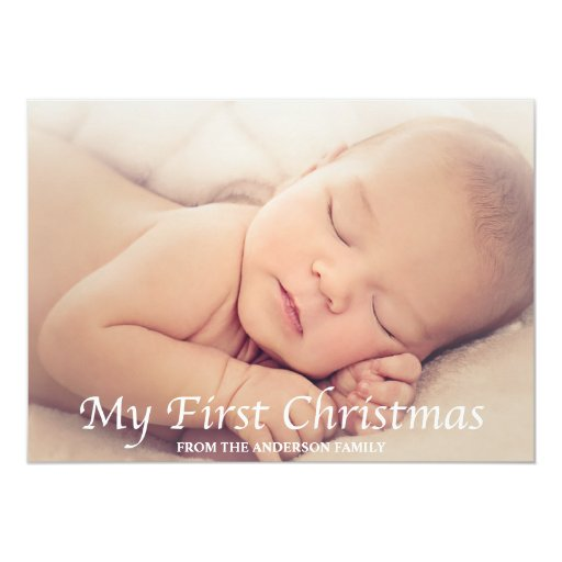 My First Christmas Holiday Photo Card