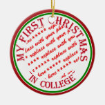 My First Christmas In College Photo Frame Christmas Tree Ornaments