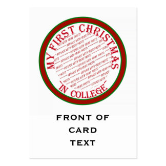 My First Christmas In College Photo Frame Template Large Business Cards (Pack Of 100)