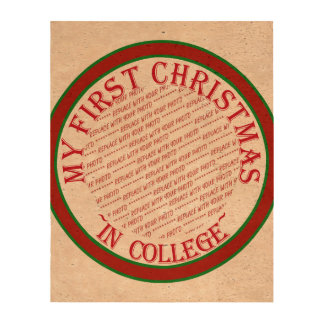 My First Christmas In College Photo Frame Template Cork Paper