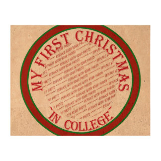 My First Christmas In College Photo Frame Template Cork Paper Prints