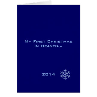 My First Christmas in Heaven Blue Snowflake Greeting Cards