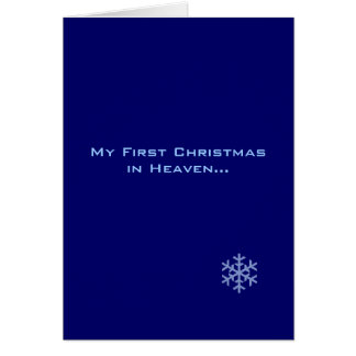 My First Christmas in Heaven Blue Snowflake Card