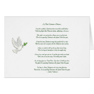 My First Christmas in Heaven Dove Card