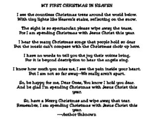 my first christmas in heaven holiday card