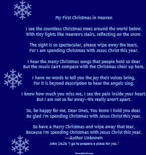 my first christmas in heaven poster - Merry Christmas In Heaven