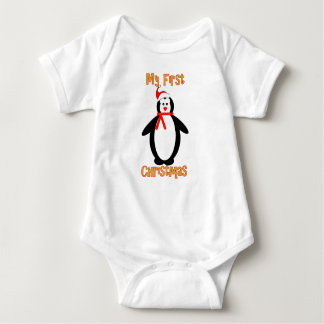 My First Christmas - Penguin Baby Bodysuit