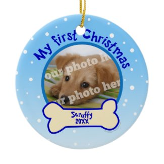 My First Christmas Dog Pet Photo Ornament
