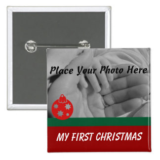 My First Christmas Photo Button