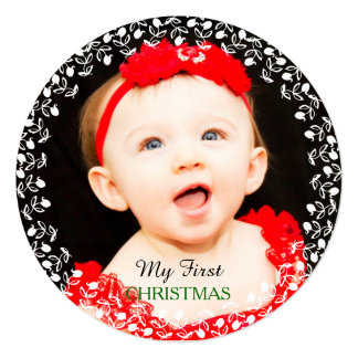 My First Christmas Photo Card Invitation