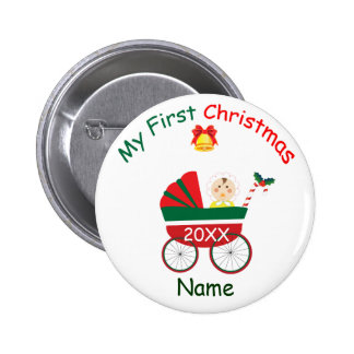 My First Christmas Pinback Button